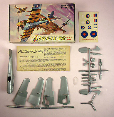 AIRFIX-72 HAWKER TYPHOON MODEL KIT - OPENED, BUT UNASSEMBLED