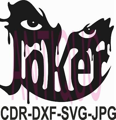 Cnc Vector Dxf Plasma Router Laser Cut Dxf-cdr Vector Files - Joker