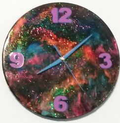 Beautiful Galaxy Wall Clock with Sweep-Second Hand