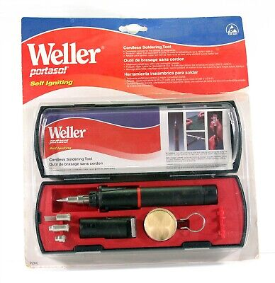 Weller P2kc Portasol Self-igniting Cordless Butane Solder Kit - Brand New
