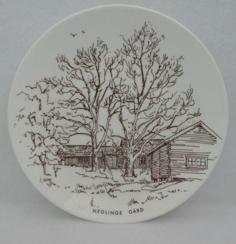 SALTSJOBADEN Neglinge Gard SWEDEN Plate Gustavberg 1976 Limited Edition