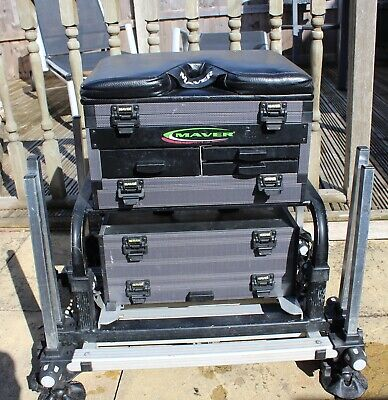 Maver MX 3000 Fishing Seat Box, In Good Condition