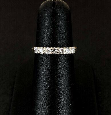 (Pa2) 18ct 0.33pt Diamond Half Eternity Ring 2.2gms (1008827-1-A)