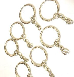 10-x-Iron-Keyrings-Key-Chain-Findings-Platinum-Color