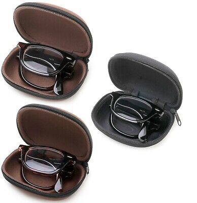 Folding Readers Reading Glasses in Case Plastic Frame Men Women Classic (Stylish Reading Glasses For Women)