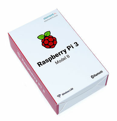 Raspberry Pi 3 Model B 1GB RAM Quad Core 1.2GHz 64 bit CPU WiFi Bluetooth USB PC