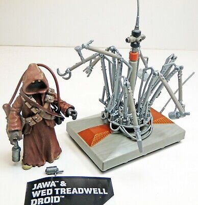 Star Wars TLC Jawa & WED Treadwell Droid Action Figures - Loose, Mint!