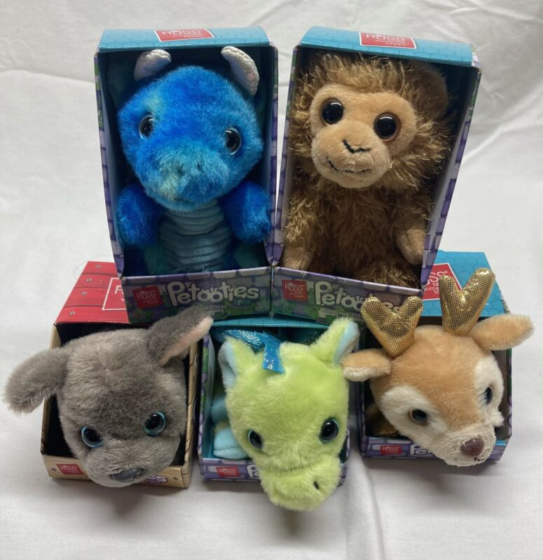 """Petooties 4"""" Collectible Cuties Pets Lot Of 5 New In Box"""