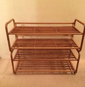 2x Two Tier Bamboo Shoe Racks Rose Bay Eastern Suburbs Preview