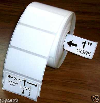 2.25x1.25 15 Rolls Direct Thermal Premium Top Coated Labels For Zebra Others