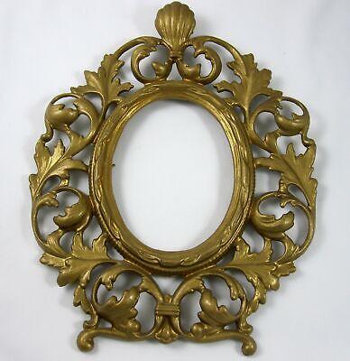 Brass Antique Oval Wall Frame Gold Gilt Art Nouveau Ornate Victorian Oval Victorian Wall Frame