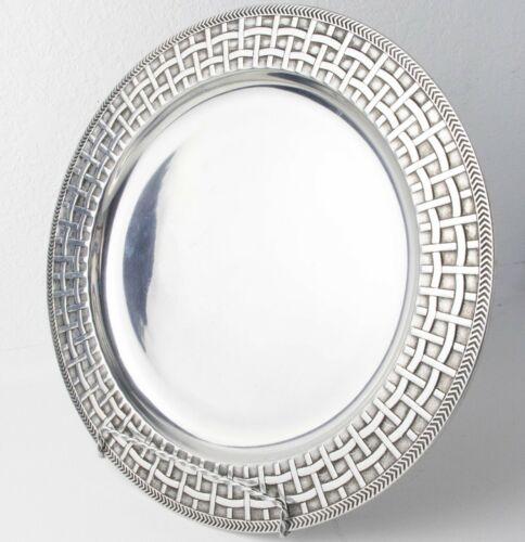 The Wilton Company Armetale Basket Weave Large Platter Plate
