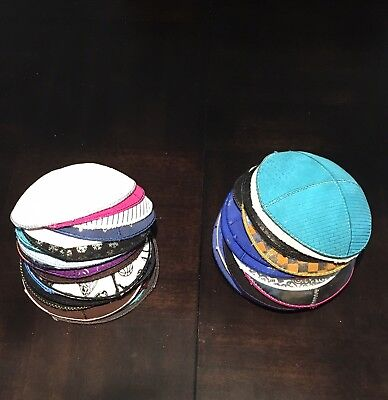 LOT Of 100 Leather Kippah Yarmulke