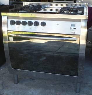 lofra curva 90 cm f/standing s/steel dual fuel oven/grill/c/top