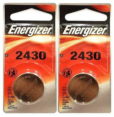2 Pk Energizer CR 2430 CR2430 Lithium 3-Volt Coin Cell Batteries Exp. 2025 (Lithium Batteries Cr2430)