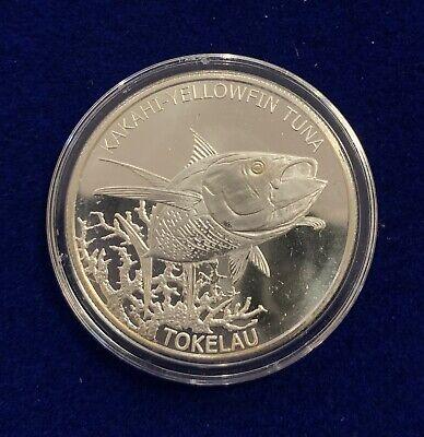 2014 Tokelau $5 Yellowfin Tuna One Ounce Silver Coin