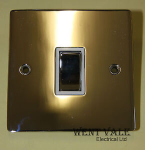 Heritage-Brass-T02-800-PCW-10ax-1-Gang-2-Way-Flat-Plate-Switch-Un-used-in-Box