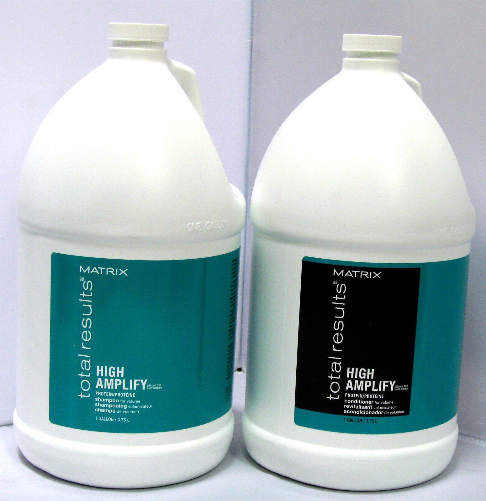 Matrix High Amplify Shampoo & Conditioner Gallon Set Total Results Silicone Free