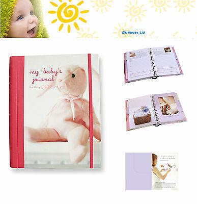 My Baby's Journal Pink Keepsake Book, Hard Back with DividersBaby Gift