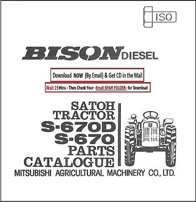 Satoh Diesel Tractor S-670d S-670 Service Parts Manual Cd - 187 Pages