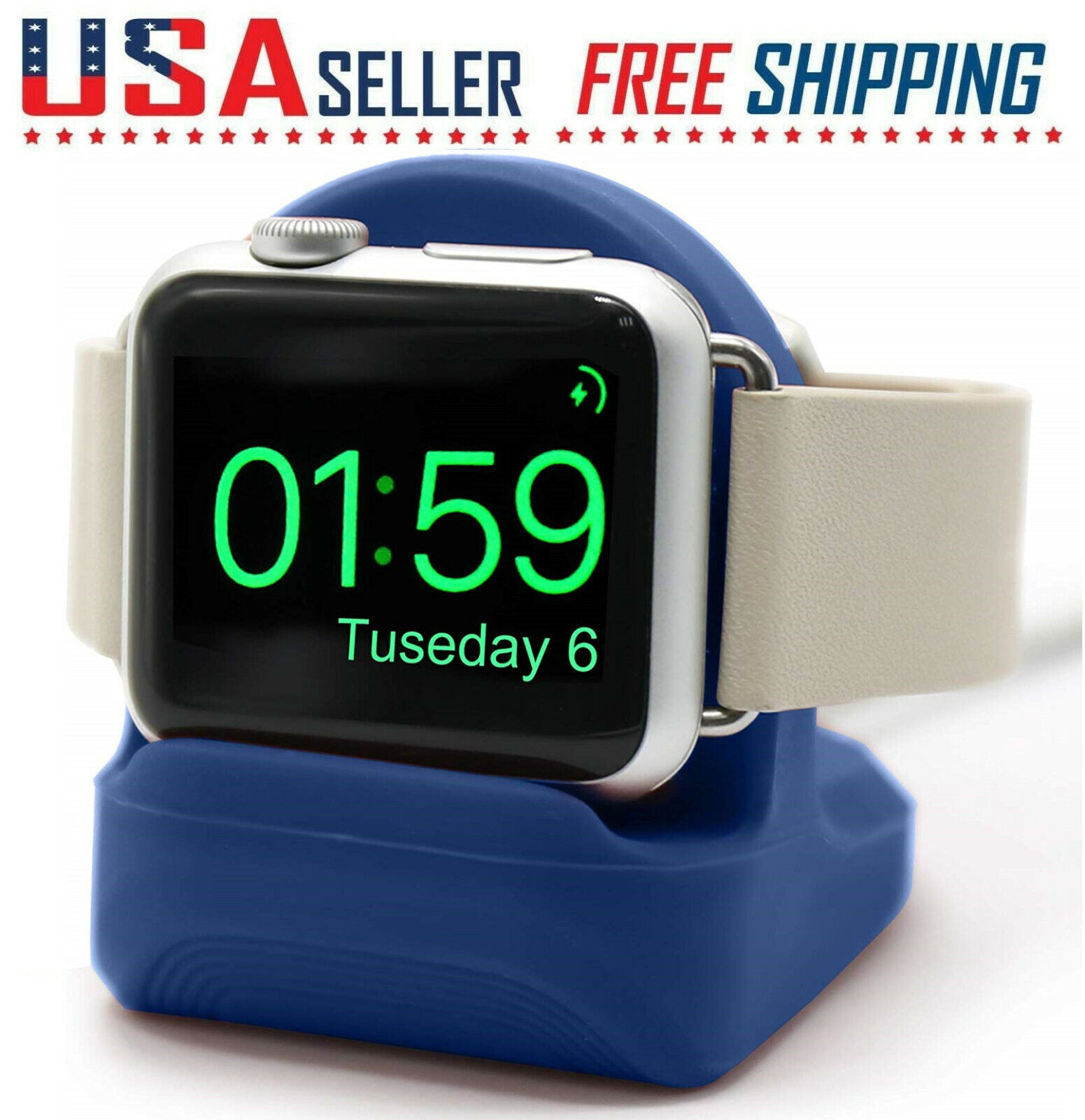Apple Watch 5/4/3/2/1 Series 38mm/40mm/42mm/44mm Charging Dock Station Holder Cell Phone Accessories