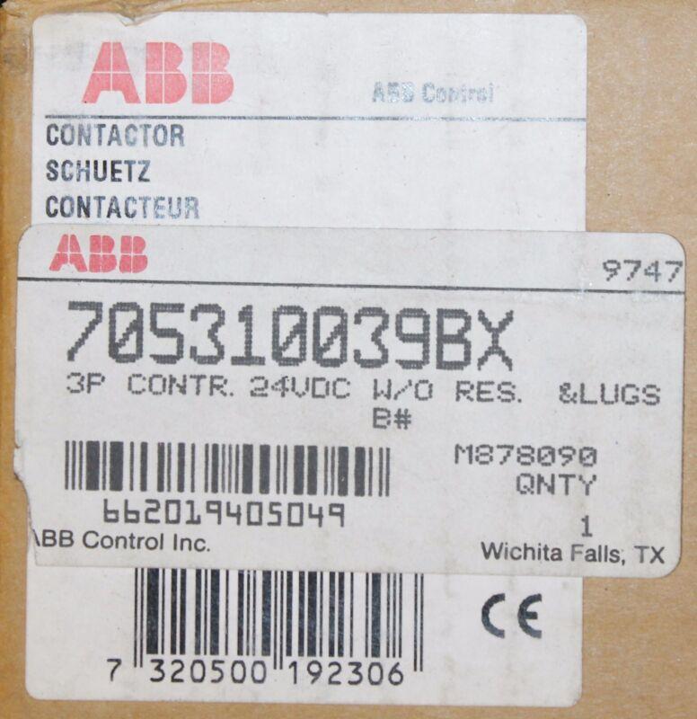 ABB Contactor 3 Pole 24VDC 705310039BX EH 210 C YZL   EH 210C -NL