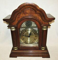 Vintage TEMPUS FUGIT  Westminster Chime Wooden Mantel Clock Quartz Movement