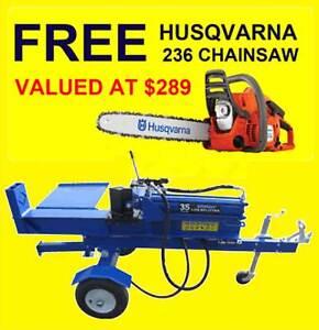 30 TON LOG SPLITTER HORIZONTAL & VERTICAL - FREE HUSQVARNA 236 C/SAW Fyshwick South Canberra Preview