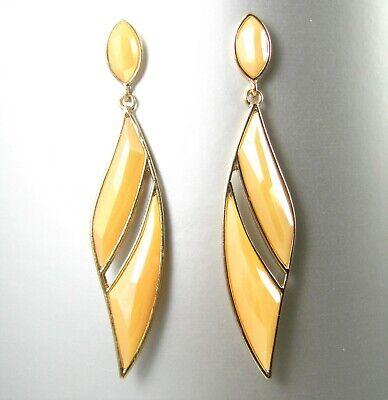 Faceted Crystal Glass Metal Finish Drop Dangle Earrings Fashion Women