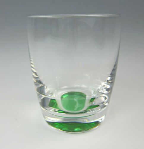 Lenox Crystal KATE SPADE SUMMER CIRCLE-GREEN Double Old Fashioned Glass