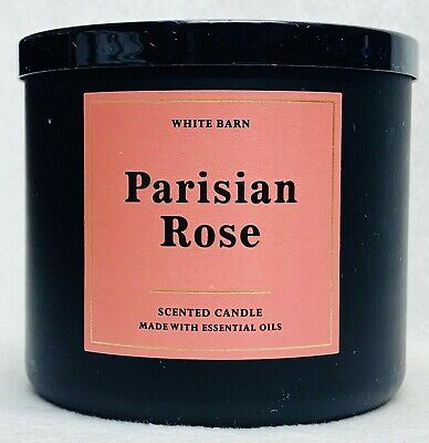 1 Bath & Body Works PARISIAN ROSE Large 3-Wick Candle 14.5 oz 1 Rose Candles