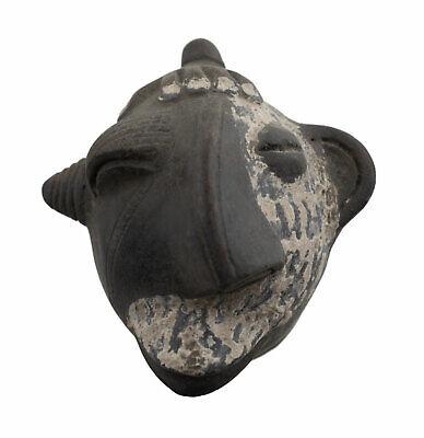 Masquette Votive Terracotta Disease Mask Fetish Ritual Art African 6490