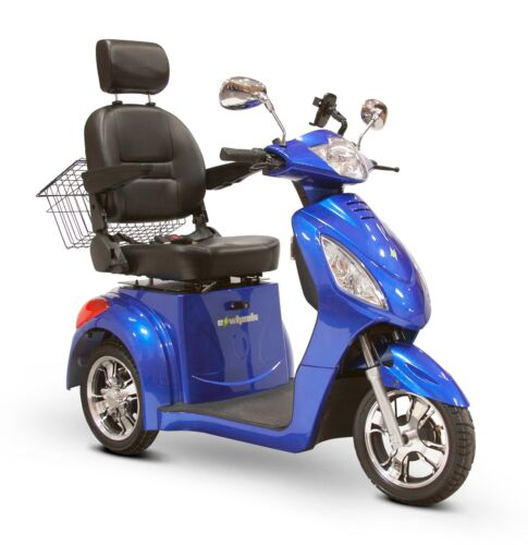 Blue Ewheels Ew-36 3 Wheel Fast Mobility Scooter Electric Rechargeable Battery