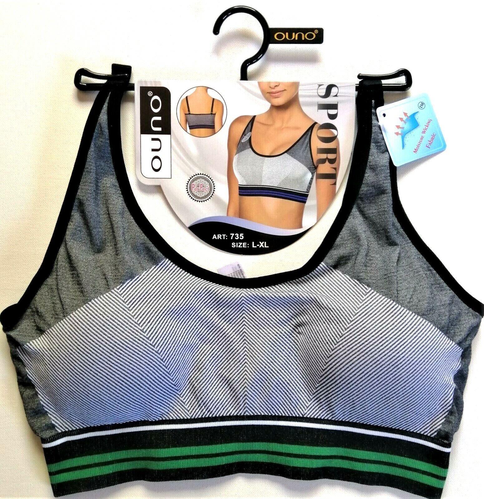 Damen Sport BH.Soft-Einlage.Fitness Bustier.Dessous.Gr.:S/M;L/XL