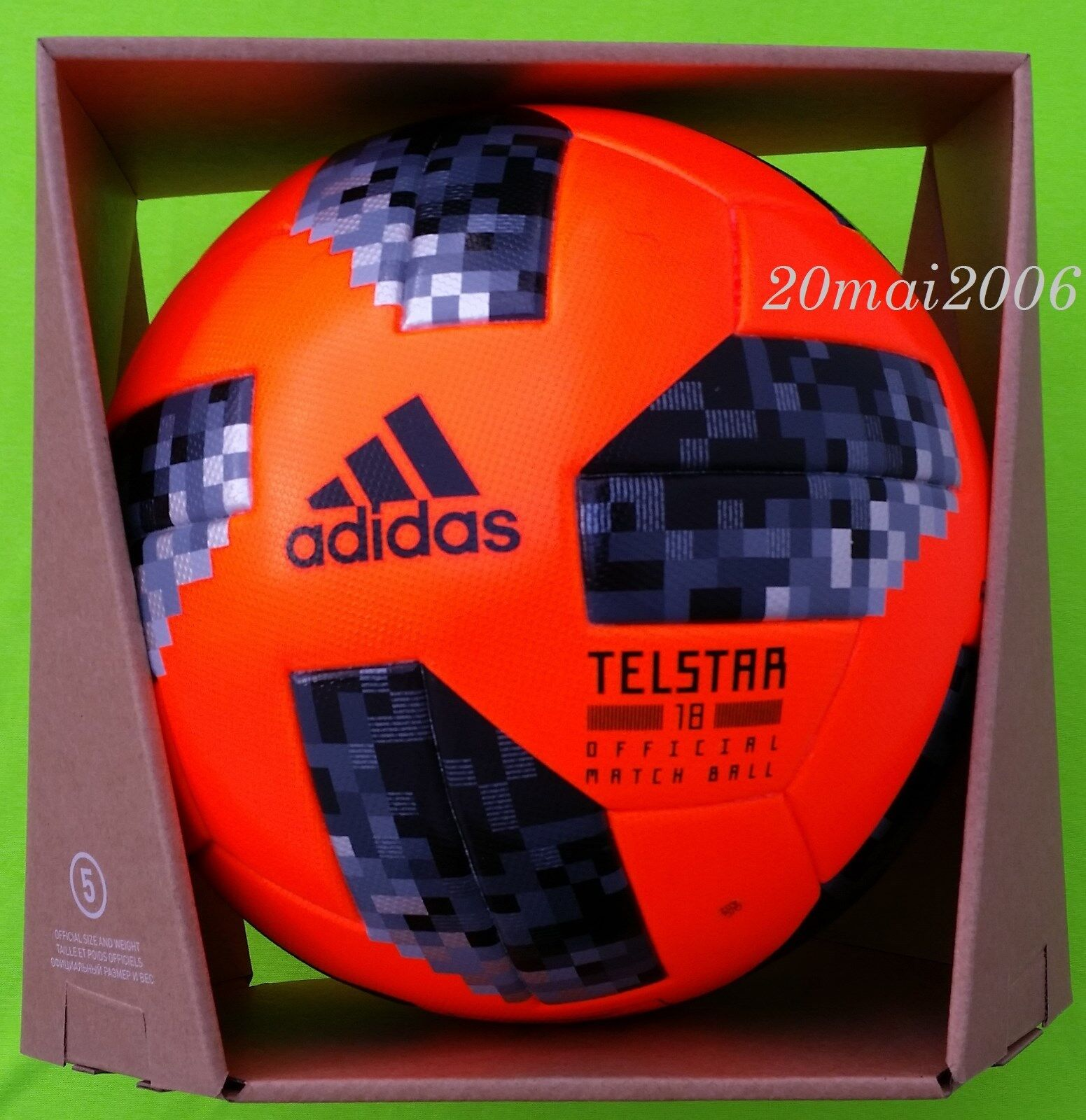 NEW OFFICIAL ADIDAS MATCH BALL TELSTAR 18 PO FIFA SOCCER WORLD CUP 2018 RUSSIA