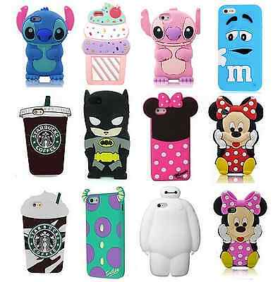 3D Cartoon Animals Soft Silicone Gel Back Rubber Cover Case For Various Phones