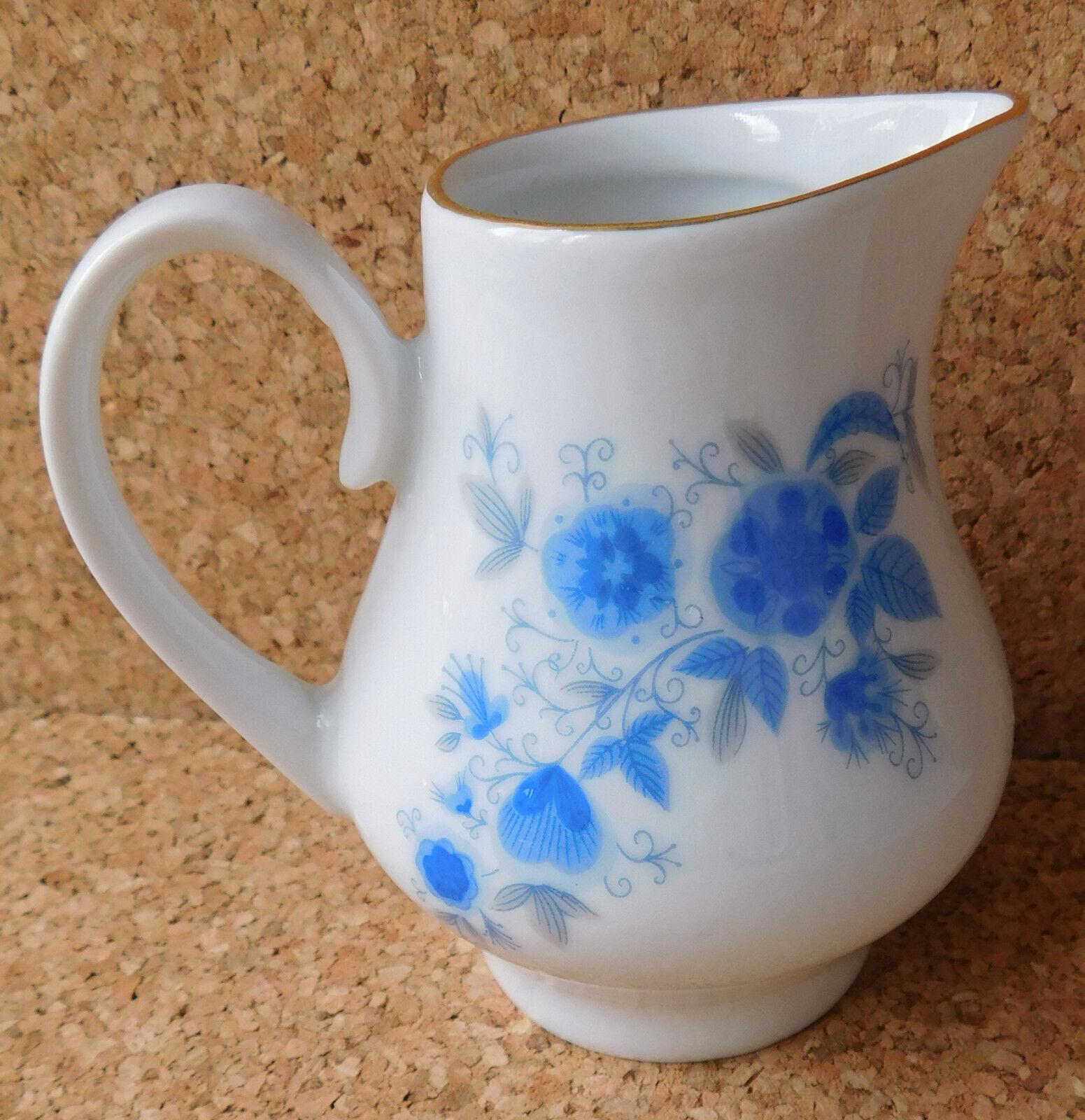 Kahla small jug for milk or cream German porcelain blue and white creamer