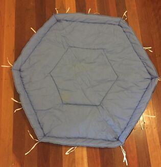 Hexagon Padded PlayPen Insert Tie-On Floor Liner
