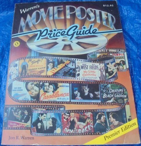Jon R. Warren Movie Poster Price Guide Book Premier Edition 1986 Wizard Of Oz