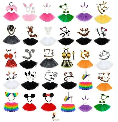 ANIMAL FANCY DRESS TUTU COSTUME Kids Girls Easter Party Accessory Book Week  - Girls Book Costumes
