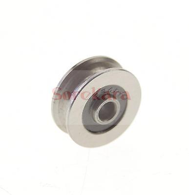 83014mm U Groove Width 8mm Guide Pulley Sheave Sealed Rail Ball Bearing