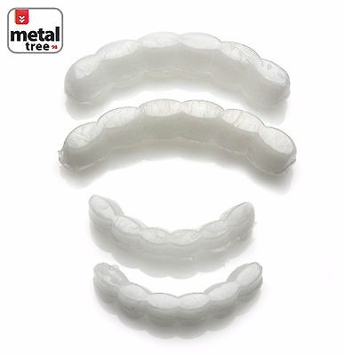 Men's Molding Wax Fitting Silicone Fixing Bar Top & Bottom Teeth Grillz 2pc Set