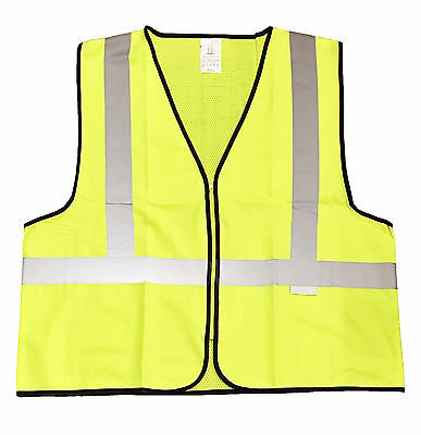 Fluorescent Safety Vest,Light Weight Nylon Mesh,Closure Size: XXX Large