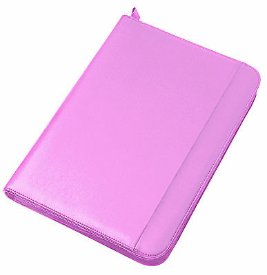New Pink Collins A4 Conference Folder With Zip Pad And Binder...