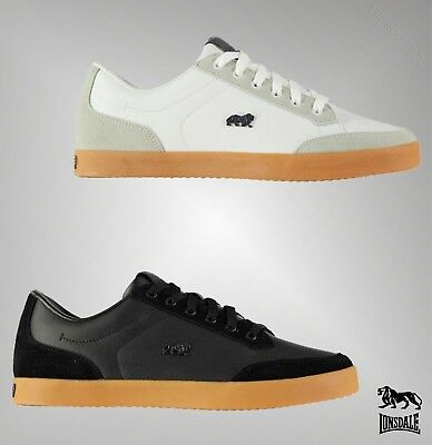 Mens Lonsdale Stylish Leather Lace Croxley Trainers Footwear Size - Stylish Footwear