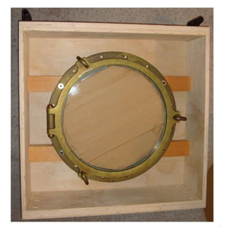 "VINTAGE NAUTICAL 22 1/2"" SOLID BRASS PORTHOLE"