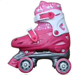 Girls - childrens Quad Roller Skates adjustable UK 2 - 4½ -  EU 34-37