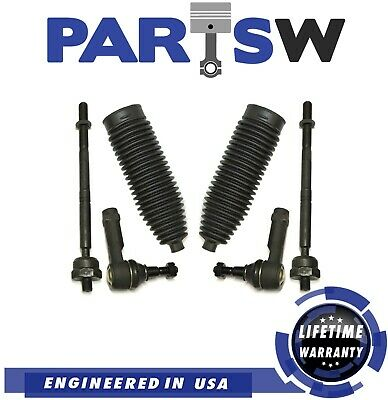 Kit for 2004 - 2008 Ford F-150 Mark LT Front 6 pc Tie Rod Ends Bellow Boots