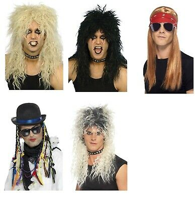 Men's 1980's 90's Pop Stars Legends Fancy Dress Wigs Tributes Stag Theme Party (90 S Themen Kostüm Party)