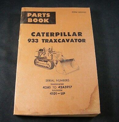 Cat Caterpillar 933 Traxcavator Bulldozer Parts Manual Book 42a - 42a5917 4d1-up